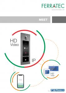 Katalog MEET Fermax neu IP Smartphone HD Video Gegensprechnalage Gesichtserkennung Badge Edelstahl Touchscreen iot Smarthome